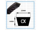CX Cogged V-belt