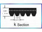PK section V-Ribbed belt