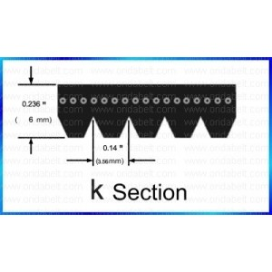Gates K050570 Multi V-Groove Belt